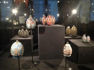 Opstelling Kostbare eieren uit het tsarenrijk, Drents Museum