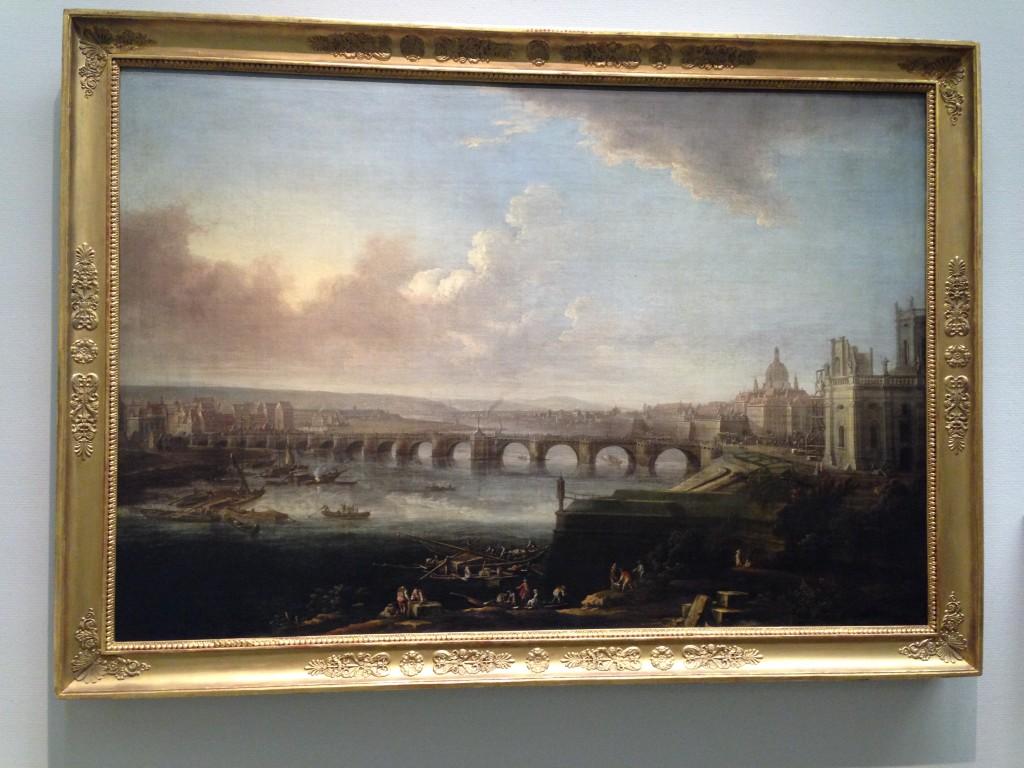 Uitzicht op Dresden met de Augustusbrücke, Johann Alexander Thiele