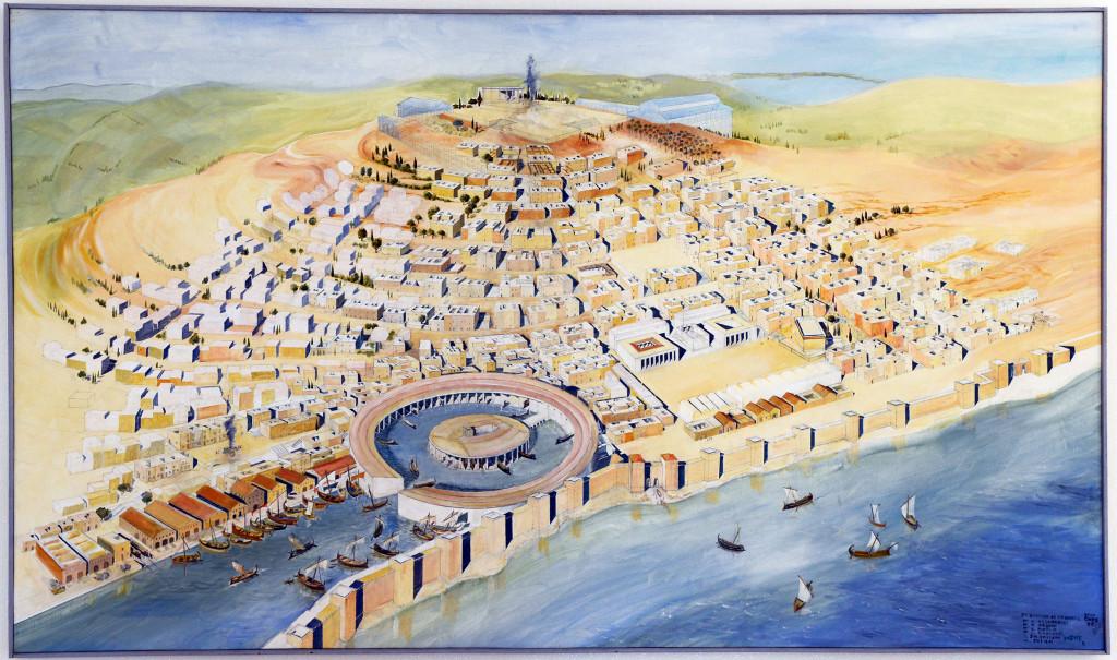 Schilderij_Punische_haven_Carthago(1)