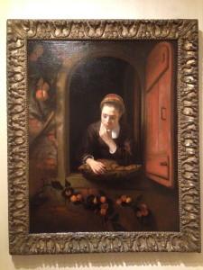 Meisje aan het venster, bekend als De peinzende, Nicolaes Maes (1650-1660)