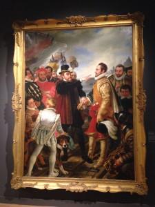 Philips II beschuldigt prins Willem van Oranje te Vlissingen bij zijn vertrek uit de Nederlanden in 1559, Cornelis Kruseman (1832)
