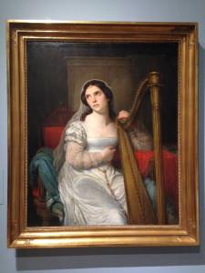 Portret van de operazangeres Amalia Schütz als Portret van de operazangeres Amalia Schütz als Desdeomna, Cornelis Kruseman (1825)