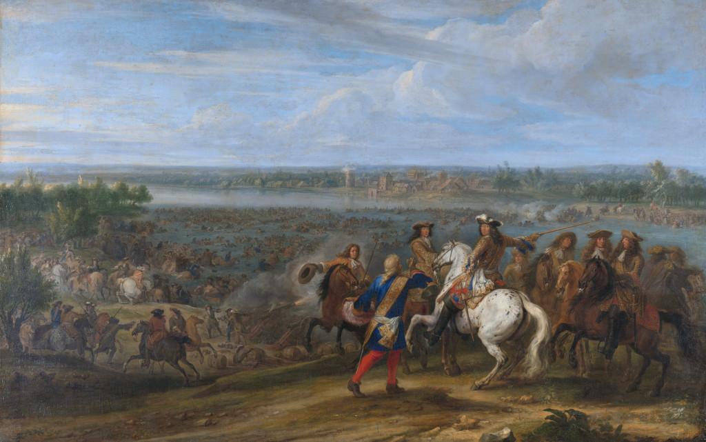 Lodewijk XIV trekt bij Lobith Nederland binnen