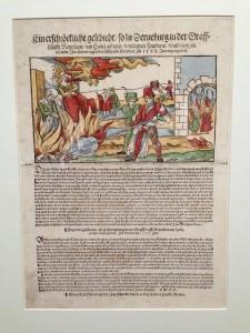 Nieuwsbrief met heksenverbranding Ein erschrockliche geschicht so zu Derneburg, Endres Zenckel, 1555 (fascimile)