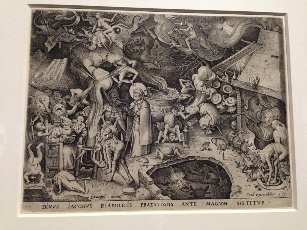 Jacobus bij de tovenaar, Pieter Bruegel (ontwerper), Pieter van der Heyden (graveur), 1565