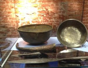 Bronzen vaatwerk gevonden in de Maas