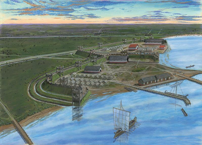 Reconstructie van het fort Velsen 1