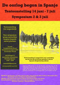 Affiche symposium Spaanse Burgeroorlog 2016