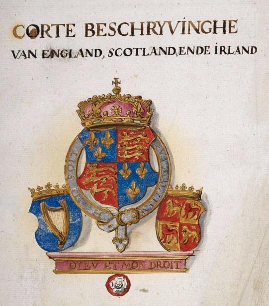 Titelpagina Corte Beschryvinghe, folio 1 recto ©British Library