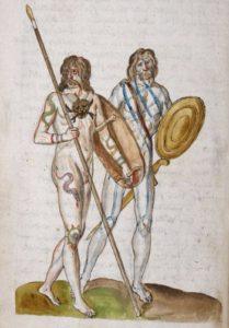Britten uit de IJzertijd, Corte Beschryvinghe, folio 8 verso, ©British Library