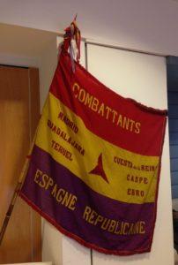 De originele vlag van de Belgische Spanjestrijders