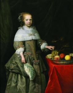 Portret van een achtjarig meisje met een fruitschaal (Westfries Museum)