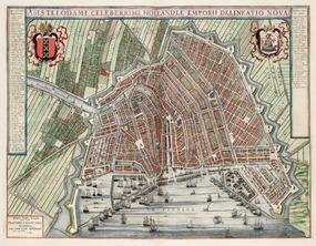 Joan Blaeu, Toonneel der steden van 's Konings Nederlanden; met hare beschrijvingen. Amsterdam Joan Blaeu, 1649. © Het Scheepvaartmuseum