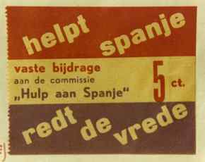 Donatiezegel Commissie 'Hulp aan Spanje'