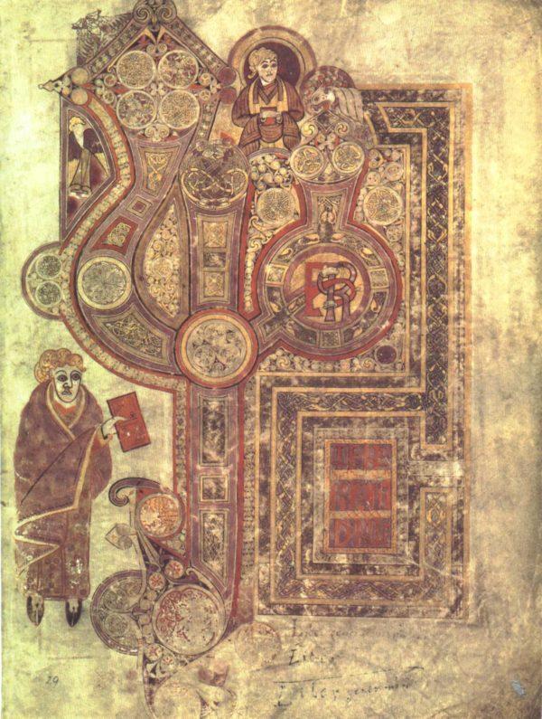 Folio 29r met het begin van het evangelie volgens Matteüs