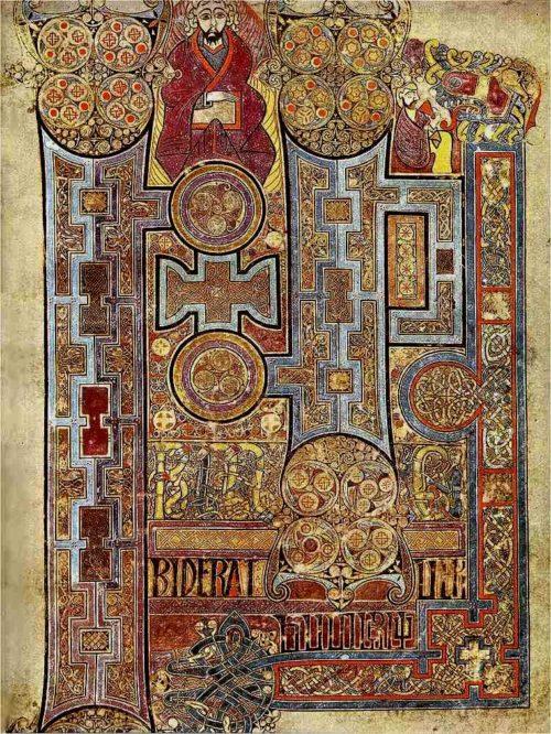 Beginpagina van het Evangelie volgens Johannes, uit het Book of Kells (folium 292r).