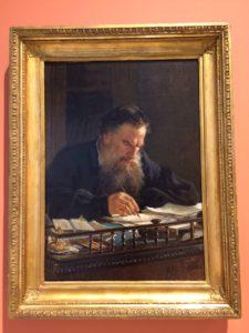 Nikolay Ge, Portret van de schrijver Lev Tolstoy (1884)