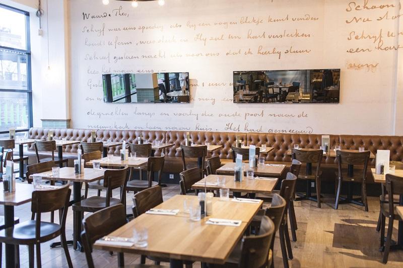 Brief Vincent van Gogh in Restaurant Post in Dordrecht